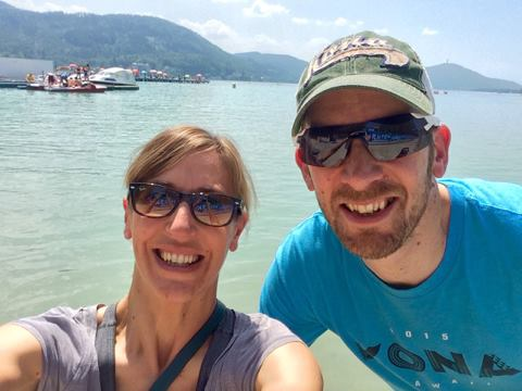 Duncan and I enjoying Klagenfurt